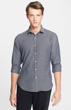Todd Snyder Trim Fit Dot Woven Shirt | Nordstrom