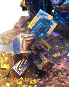 Bismuth Crystals (close up)- I have used these crystals in my necklace designs.