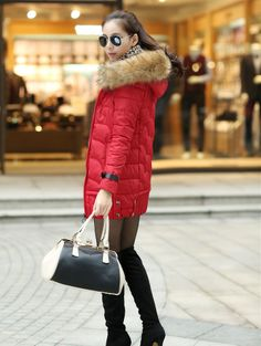 Slim thickening in long down jacket for women new winter cotton-padded clothes down cotton-padded jacket female coat