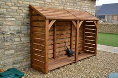 8ft long x 6ft log store, £720 delivered fully constructed