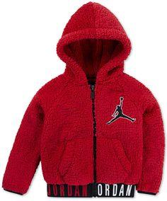 8c98737a90c14b Jordan Big Boys Air Jumpman Zip-Front Hoodie Red Hoodie