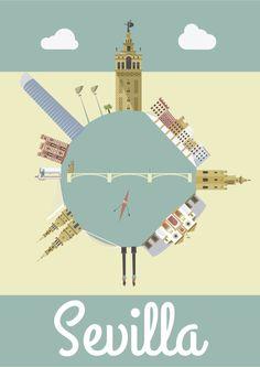 Sevilla Ilustración #GraphicDesign #DiseñoGrafico #illustration