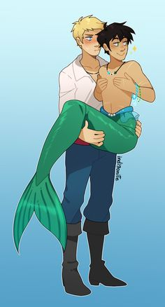 indigonite:  Anon told me about the Mermaid Parade in Coney Island and they're totally right, Percy would definitely want to participate 100%. And dress up while he's at it. And drag Jason because someone needs to carry him around.