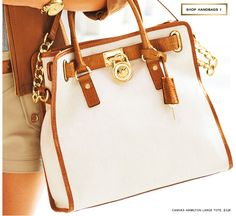MIchael Kors Hamilton Handbag in Cream.    Divine!