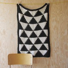 Knitted Triangle Pattern Baby Blanket for Bassinet, Stroller, or Car Seat. $85.00, via Etsy.