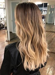 Golden Blonde Balayage for Straight Hair - Honey Blonde Hair Inspiration - The Trending Hairstyle Ombre Hair Color, Hair Color Balayage, Brown Hair Colors, Hair Highlights, Blonde Hair Colour, Full Balayage, Honey Balayage, Bronde Balayage, Hair Colours