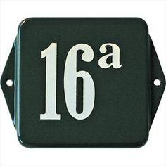 Huisnummer: klassiek nummer 16a Identity groen / ivoor   Poppers Wallebroek B.V.