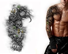 Full Sleeve And Chest Design Custom Tattoo Designs pertaining to size 1550 X 1240 Tattoo Full Sleeve Designs - Without more to say, what remains is that Black Sleeve Tattoo, Full Sleeve Tattoo Design, Arm Sleeve Tattoos, Tattoo Arm, Tattoo Sleeves, Urban Threads, Full Sleeves Design, Tattoo Sites, Color Ink