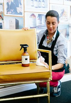 Murchison-Hume's leather cleaner works its magic on your favorite chairs, not to mention your favorite bag.