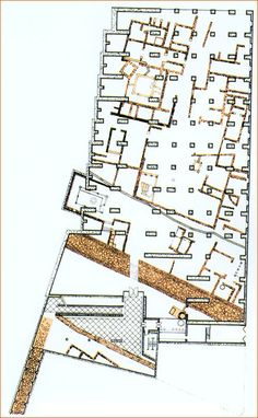 """AD Classics: National Museum of Roman Art,Plan of the """"crypt"""". Image Courtesy of The National Museum of Roman Art"""