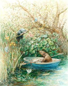 The Wind in the Willows Illustration by Inga Moore Art And Illustration, Book Illustrations, Creative Illustration, Fantasy Kunst, Fantasy Art, Fox Print, Beatrix Potter, Conte, Book Art