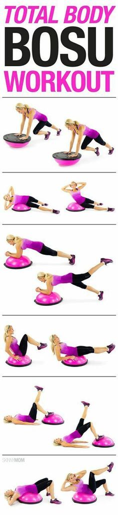 Body BOSU Workout You have to try this BOSU workout to tone your entire body.You have to try this BOSU workout to tone your entire body. Lower Ab Workouts, Toning Workouts, At Home Workouts, Ball Workouts, Fitness Workouts, Swimming Workouts, Yoga Fitness, Swimming Tips, Treadmill Workouts