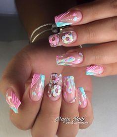 Coffen Nails, Acrylic Nails, Rainbow Nail Art, Semi Permanente, Nail Art Videos, Short Nails, Nail Art Designs, Hair Beauty, Make Up