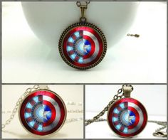 Iron Man and Captain America Necklace