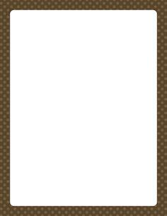 Brown Polka Dot Border