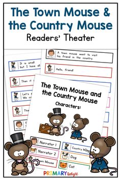 The Town Mouse and the Country Mouse Readers' Theater Art Lessons Elementary, Elementary Schools, Elementary Teaching, Teaching Art, First Grade Reading, First Grade Classroom, Shared Reading, Guided Reading, Teaching Channel