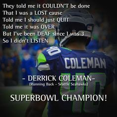 Seahawks Football, Best Football Team, Seattle Seahawks, Seahawks Memes, Football Helmets, Broncos, Derrick Coleman, Superbowl Champions, Football Quotes