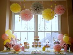 Pink Lemonade DIY Party Decoration Package with 12-Person Tableware via Etsy