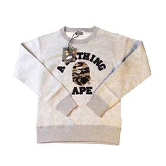 7d9fc2f8c37c A Bathing Ape Sweaters Plain Sweater Gray Grab this cozy sweater to keep  those bad days