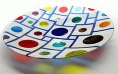 fused glass . Round in Circles by Margaret Heenan