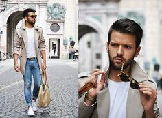 Han Kjobenhavn Sunglasses, Zara Trench Coat, Converse Sneakers #fashion #mensfashion #menswear #mensstyle #streetstyle #style #outfit #ootd