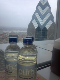Purh20 natural spring water at the BNY Mellon Center,  Philadelphia, PA