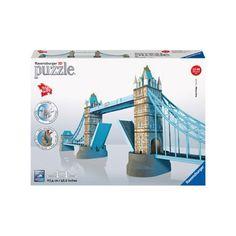 Ravensburger 3D puzzel Tower Bridge  Met deze 3D puzzelset van Ravensburger bouw je helemaal zelf de wereldberoemde Tower Bridge! Zet de stukjes in elkaar en zie hoe dit mooie Londense monument verschijnt. Durf jij deze puzzeluitdaging aan?  EUR 46.99  Meer informatie
