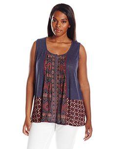 Lucky Brand Women's Plus Size Mixed Print Top, Blue/Multi... https://www.amazon.com/dp/B01ES14W6Y/ref=cm_sw_r_pi_dp_x_CiSuyb16FKZX9