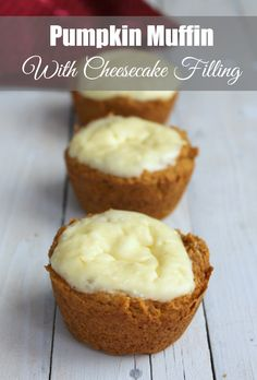 Pumpkin Muffins with Cheesecake Filling 275 calories and 7 weight watchers points plus