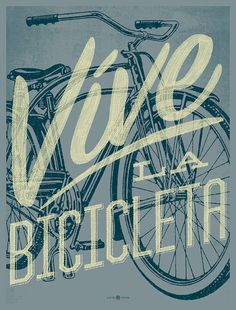 Vive le Velo 2011 Bicycle Art Print by kollectivefusion on Etsy