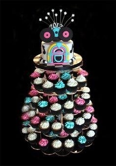 Retro Birthday, 70th Birthday Parties, Themed Birthday Cakes, Themed Cakes, Grease Theme, Grease Party, 50s Theme Parties, Party Themes, Theme Ideas