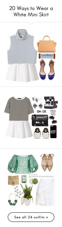 """20 Ways to Wear a White Mini Skirt"" by polyvore-editorial ❤ liked on Polyvore featuring waystowear, whiteminiskirts, Kai-aakmann, H&M, ZAC Zac Posen, TIBI, adidas, Proenza Schouler, Etiquette and Fantas-Eyes"