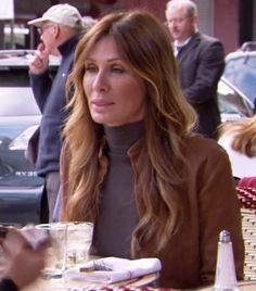 Real Housewives of New York Carole Radziwill Brown Jacket Housewives Of New York, Real Housewives, Bravo Housewives, Celebrity Hairstyles, Cool Hairstyles, Carole Radziwill, Hot Hair Styles, Bridesmaid Outfit, Brown Jacket