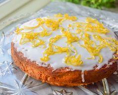 Sitronkake - Syrlig, søtt og saftig! | Gladkokken Birthday Cake, Desserts, Ideas, Candy, Tailgate Desserts, Deserts, Birthday Cakes, Postres, Dessert