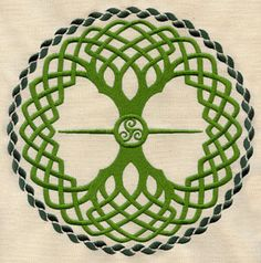 Ideas tree of life embroidery pattern urban threads Celtic Decor, Celtic Art, Embroidery Applique, Machine Embroidery Designs, Embroidery Patterns, Hand Applique, Celtic Patterns, Celtic Designs, Tree Patterns