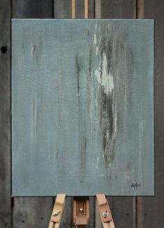 Original Abstract Acrylic Blue Gray Painting by AmyNealArtStudio