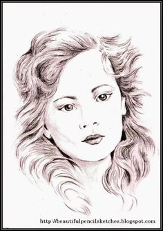 Beautiful Pencil Sketches of Girls Faces: How I have drawn this female face: Drawing beautiful faces of girls is my hobby and t. Pencil Sketches Of Girls, Beautiful Pencil Sketches, Sketches Of Girls Faces, Cool Art Drawings, Easy Drawings, Girl Face, Woman Face, Drawing Hands, Pencil Drawing Tutorials