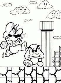Free Mario Bros Coloring Pages