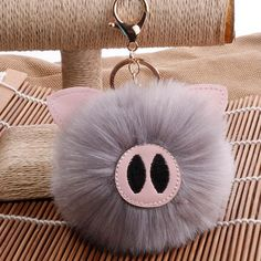 Fluffy Pig Keychain Cute Baby Pigs, Cute Piglets, Piglet Tattoo, Homemade Ice Pack, Biscuit, Alphabet Images, Casual School Outfits, Cute Keychain, Little Pigs