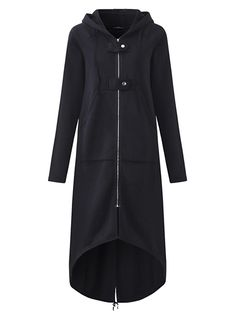 06a80ce92196 Only US$39.87, shop s-5xl women zipper hooded long sweatshirt jacket at  Banggood.com. Buy fashion hoodies & sweatshirts online. - Banggood Mobile