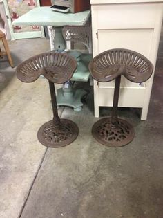 Repurposed Tractor Seat Stools