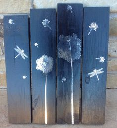 Pallet Art/ Dandelions by ForAlwaysBoutique on Etsy, $37.50
