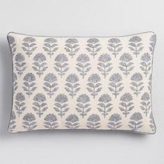 Silver Samode Embroidered Lumbar Pillow - v1