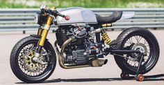 The best Honda ‪‎Cafe Racer‬ >>> by Blacktrack Motors. Cx500 Cafe Racer, Cafe Racer Motorcycle, Classic Motorcycle, Honda Bikes, Racing Motorcycles, Custom Motorcycles, Cafe Racer Parts, Honda Cx500, Ducati Scrambler