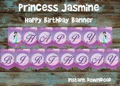 Printable Jasmine Birthday Invitations ~ Princess jasmine invitation disney jasmine invite princess
