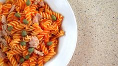 pressure cooker pasta with tuna and capers