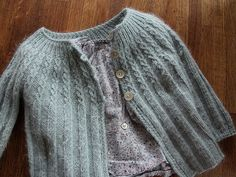 Amelia's sweater :: posy gets cozy. The pattern is an old Bernat pattern. The yarn is delicious!