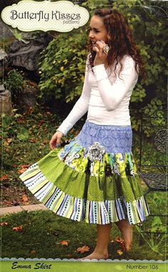 Pattern - Emma Skirt by Butterfly Kisses-sewing pattern adult skirt emma butterfly kisses 106