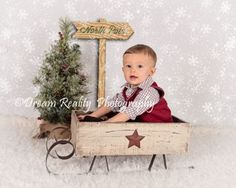 6 Month Christmas Portraits { Old