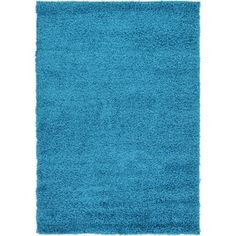 Shop for Turquoise Polypropylene Solid Shag Rug (4' x 6'). Get free shipping at Overstock.com - Your Online Home Decor Outlet Store! Get 5% in rewards with Club O! - 20012295